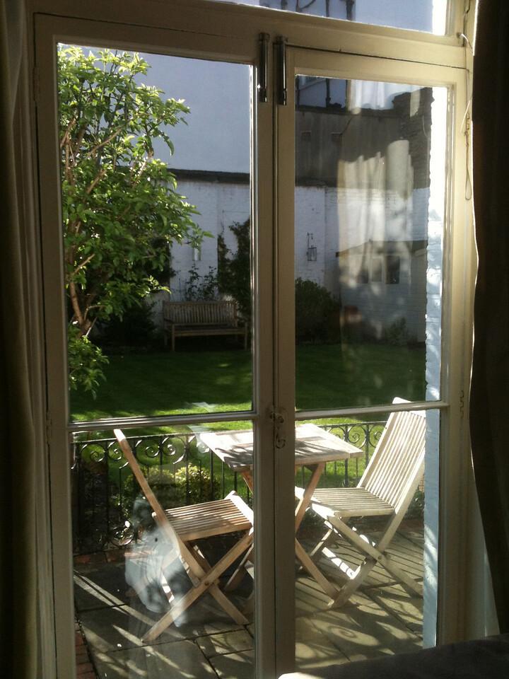 Our little garden in London.