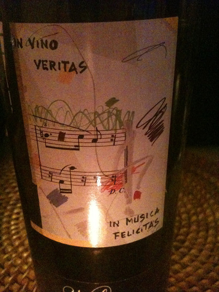 The last wine we enjoyed in Italy with dinner at the villa the night before we left.