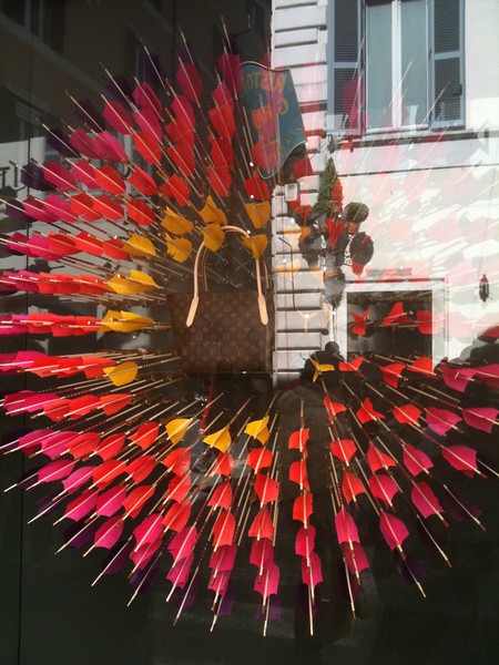 An interesting window display in Florence.  I thought of Tessa who competed in archery in college.