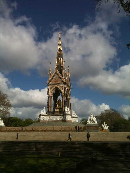 Prince Albert Memorial.  Check out those clouds!