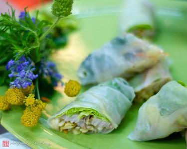 Miso Braised Pork Belly Spring Rolls