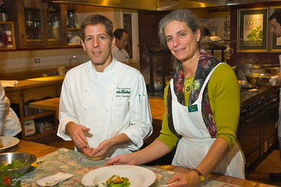 Executive Chef Jerry Traunfeld and Owner Carrie Van Dyck at the Herbfarm