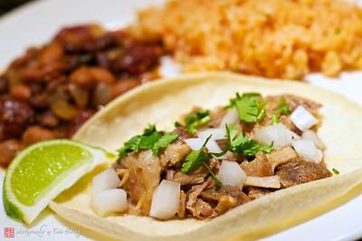 Homemade taqueria-style carnitas