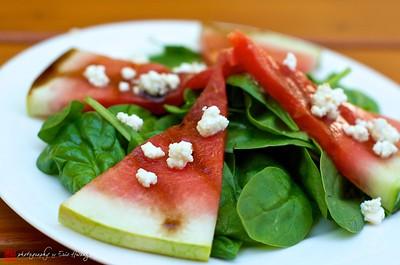 Grilled watermelon salad