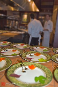 Plating up at the Herbfarm