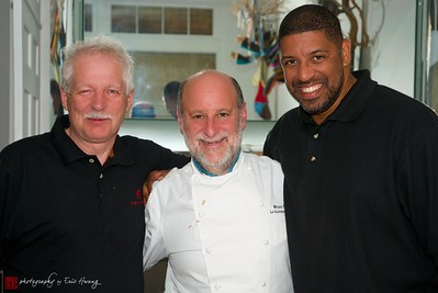 Winemaker Bill Owen of OS Winery, Executive Chef Bruce Naftaly of Le Gourmand restaurant, and James King of King Group Events