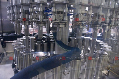 Part of the automated bottling line