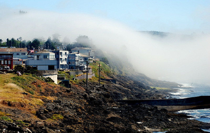 Fog at Depoe Bay Oregon