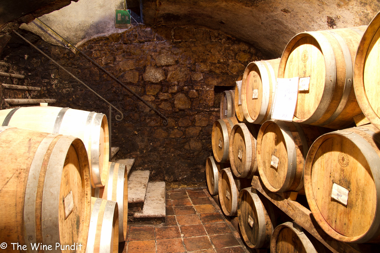 Ancient cellars at San Giusto a Rentennano