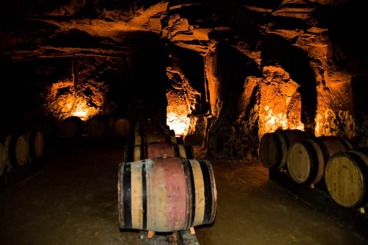 This picture may seem like there was light down here, but I swear those were 3 watt light bulbs behind the barrels. Taken in the caves of Loire Valley producer Sèbastien Bobinet, a highly skilled winemaker using only traditional, sustainable methods. Many thanks to Patricia Méaille, a terrific photographer based in the Loire, for introducing me to this man and his wines.