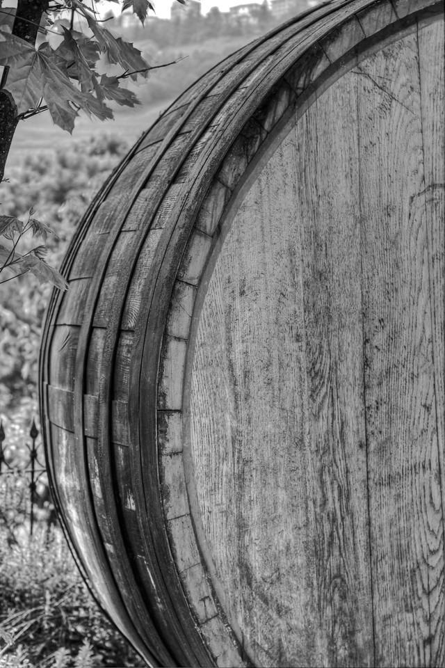 An older, Slavonian oak barrel is removed from the cellar,having reached the end of it's useful life -- in the cellar. Here in Barolo, nothing goes to waste, so this will go on to serve another purpose, as it should be.