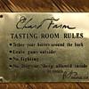 Tasting Room Rules