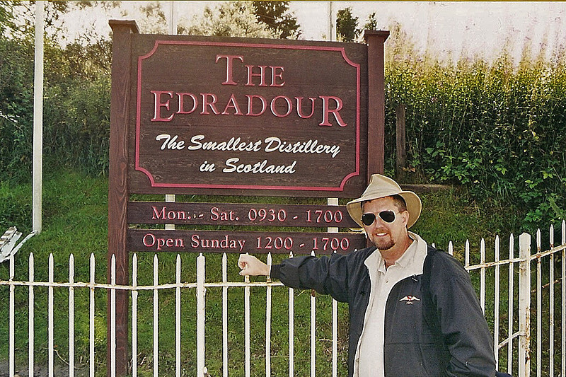 Scotland, 2002. The world's smallest distillery - only 3 employees!