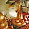 Distilling kettles at The Edradour Scotch Distillery in Scotland.
