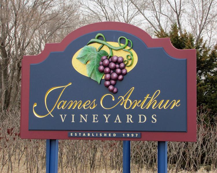 James Arthur Vineyards is located in Raymond, Nebraska (just north of Lincoln).