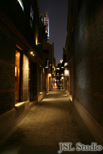 "A side street in the ""New Place"" in Shanghai"