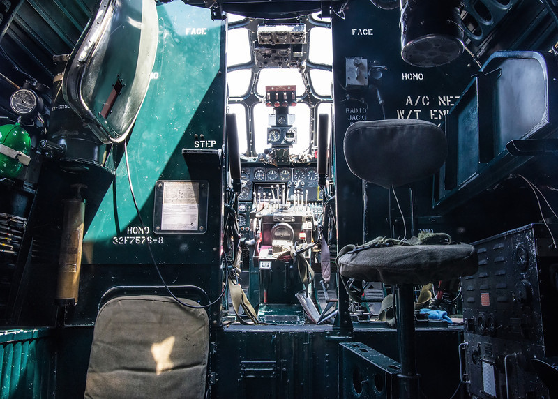 View to the Cockpit, B-24J Liberator