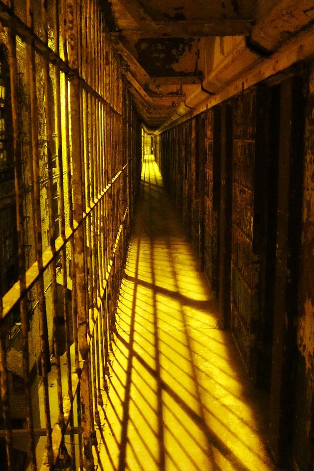 Hallway between the cells.