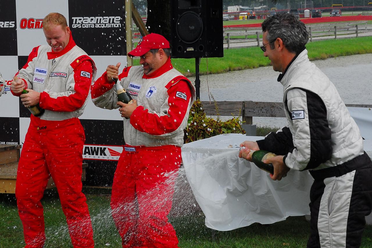 Champagne fight #1 for all TT podium guys.