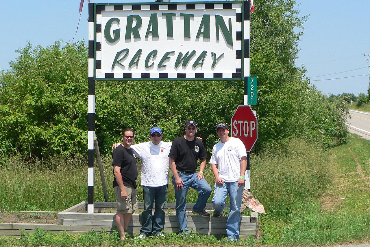 Outside lovely Grattan Raceway.