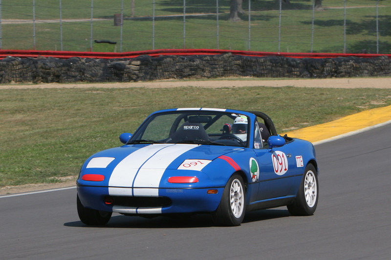 """I spent most of Saturday trying to retune the car after changing the sway bars.  Originally it was a little too """"tail happy"""", but I still ran consistent 1:55's, good enough for 2nd place out of 5 cars. Photo credit:  Patrick Strehl."""