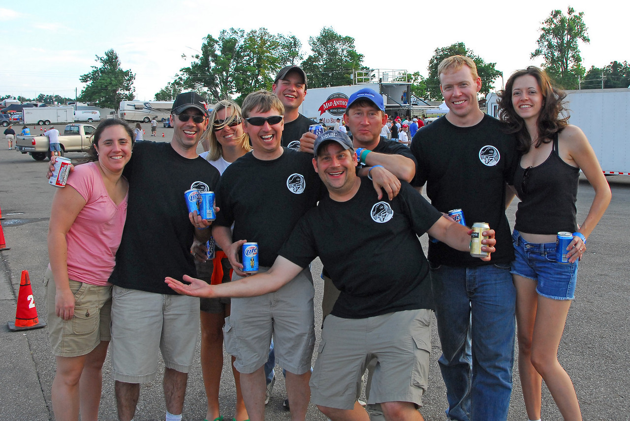 We had another strong showing at MidOhio in July.  Here is most of the Winking Lizard gang after dinner Saturday.
