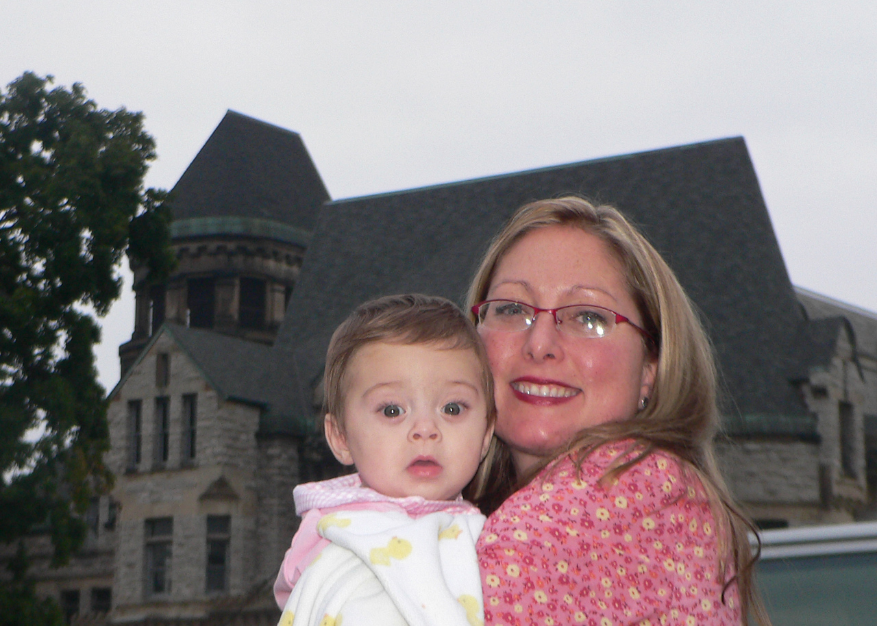 At this point, I have to thank my lovely wife Lisa and my daughter Claire for putting up with me, especially the couple weeks before Nationals when I was stressed and making last-minute setup changes.  Here they are in front of the Old Mansfield Reformatory.