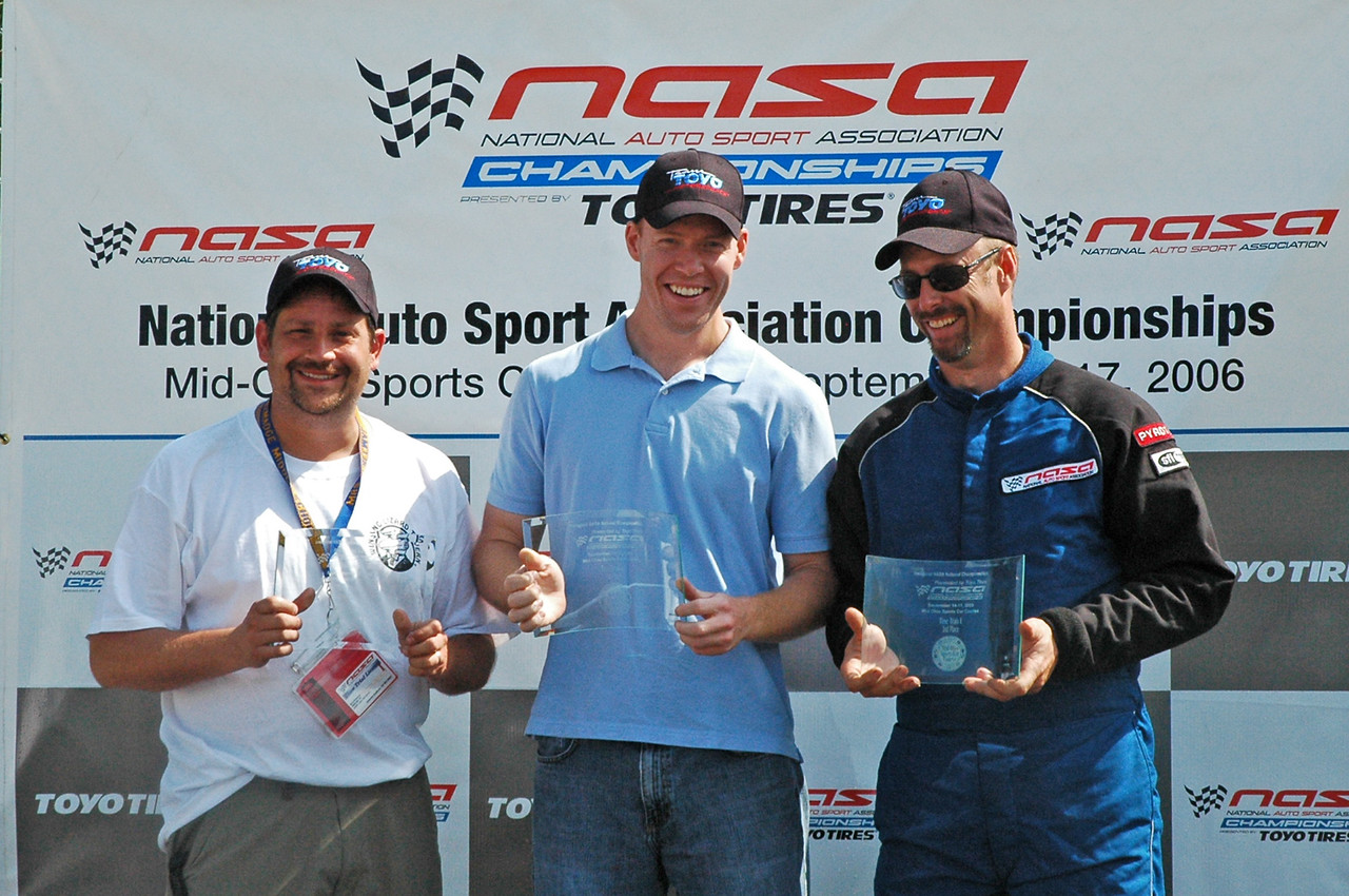 Standing on the podium with Bill Brees (1st place) in the middle and Shawn Meze (3rd place) on the right.