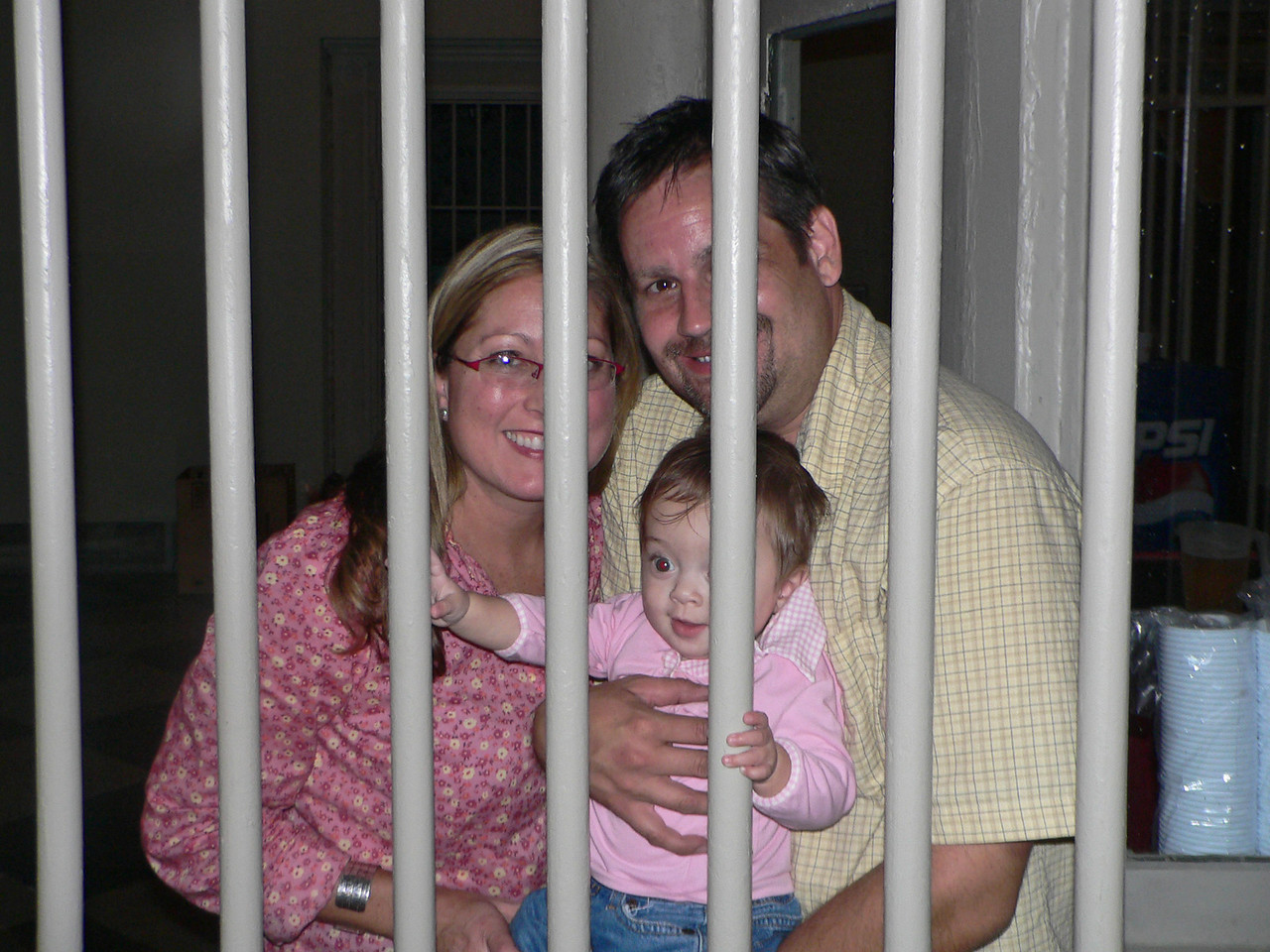 Claire doesn't look too upset about being behind bars, which could spell trouble.