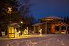 Christmas 2015 lights in Bethel Heritage Park, Winkler, Manitoba, Canada.