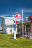 An Esso service station at the Pembina Threshermen's Museum, Winkler, Manitoba, Canada.