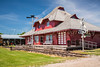 The former Morden Train Station at the Pembina Threshermen's Museum, Winkler, Manitoba, Canada.