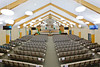 The newly renovated Winkler Bergthaler Mennonite Church interior sanctuary.