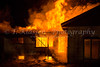 The Winkler Fire Dept attending a training exersize at a burning house at Winkler, Manitoba, Canada.