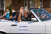 The Citizen of the Year in the 2012 Harvest Festival street parade in Winkler, Manitoba, Canada.