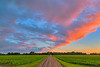 A prairie sunset from 14th Ave in Winkler, Manitoba, Canada.