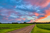 A prairie sunset from 14th Ave. in Winkler, Manitoba, Canada.