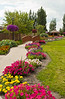 The flower gardens at Grandeur Park in Winkler, Manitoba, Canada.