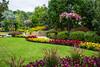 Formal flower gardens at the Parkview Gardens in Winkler, Manitoba, Canada.
