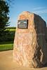 The Blumstein School District 503 historic cairn near Winkler, Manitoba, Canada.