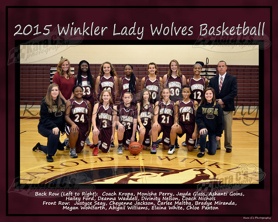 Winter 2015 8th Grade Lady Wolves
