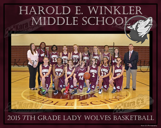 Spring 2015 7th Grade Lady Wolves