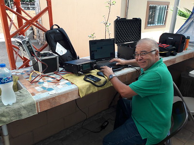 XE2SI connected to XE1CRG gateway on 17 meters, Winmor 1600