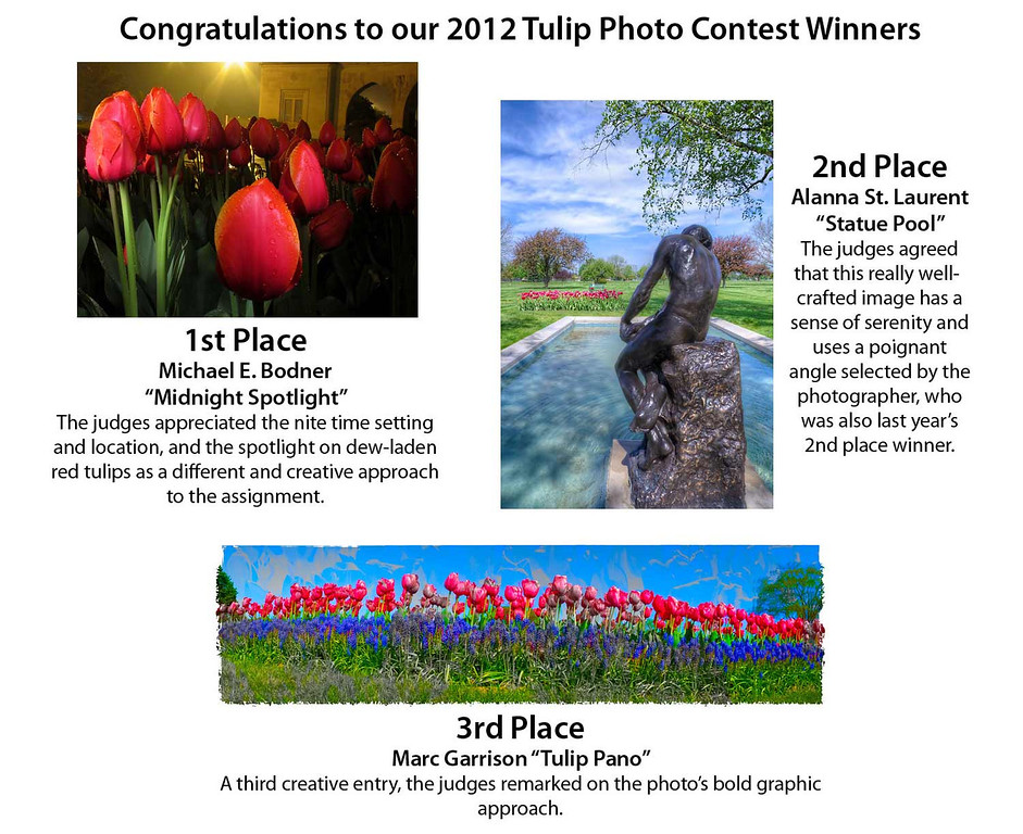 Congratulations to all contest participants, this year's entries were once again quite wonderful.  We look forward to next year's contest and hope you do too.