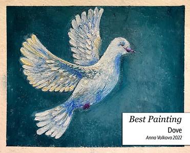 Anna-Volkova-'22-Dove-Oil-on-Paper