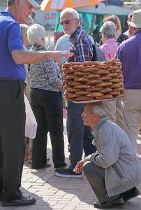 Istanbul pretzel vendor