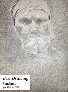 Igor-Klimtsov-'20-Pandemic-Pencil-on-Paper