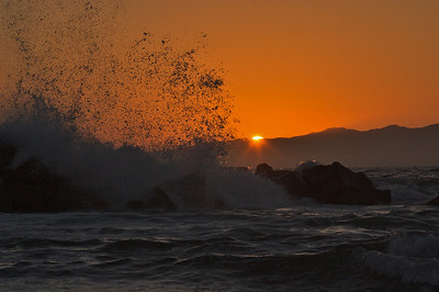 Sunset waves 6