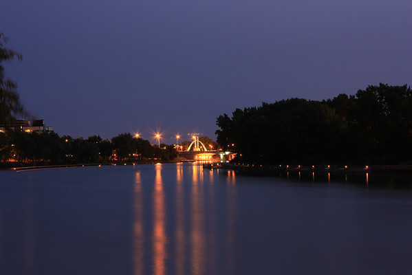 Main Street Bridge Near The Forks