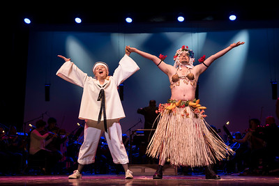 DAVID LIPNOWSKI / WINNIPEG FREE PRESS  Jillian Willems performs as Nellie Forbush alongside Simon Miron as Luther Billis during the South Pacific media call Friday, April 7, 2017 at the Centennial Concert Hall.